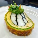Filet de poisson blanc de la peche du jour façon wellington, et sa quenelle de léguumes